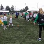 Smaalenene Fotballcup for jenter i regnvær